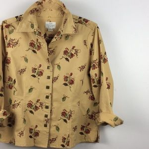 Vintage Embroidered Canvas Button Down